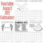 printable august 2017 calendars 250