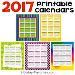 2017 printable caendars 250